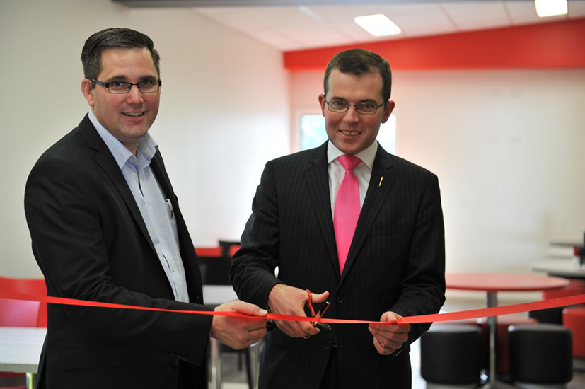 Adam Marshal MP and CR Murat at the opening of the new cafeteria and training facility.