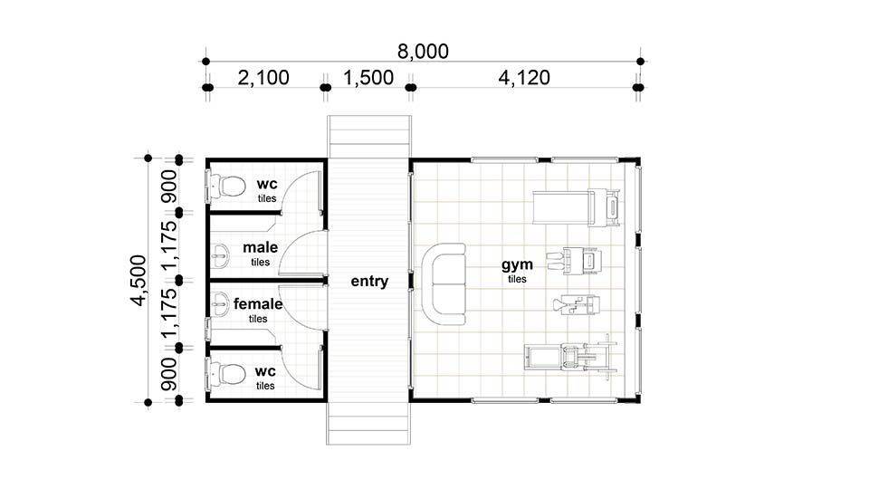 8x4.5m Gym Room