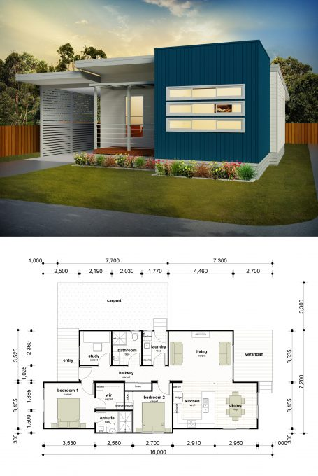 FEATURED PLAN – The Brussels is a 2 bedroom, 2 bathroom + study
